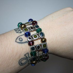 Vintage Jewelry - Vintage silver and colorful bracelet